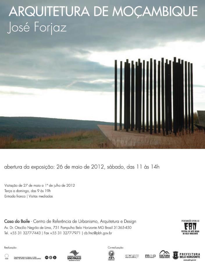 Exposição Arquitetura de Moçambique no MCB / Belo Horizonte - MG, Divulgação