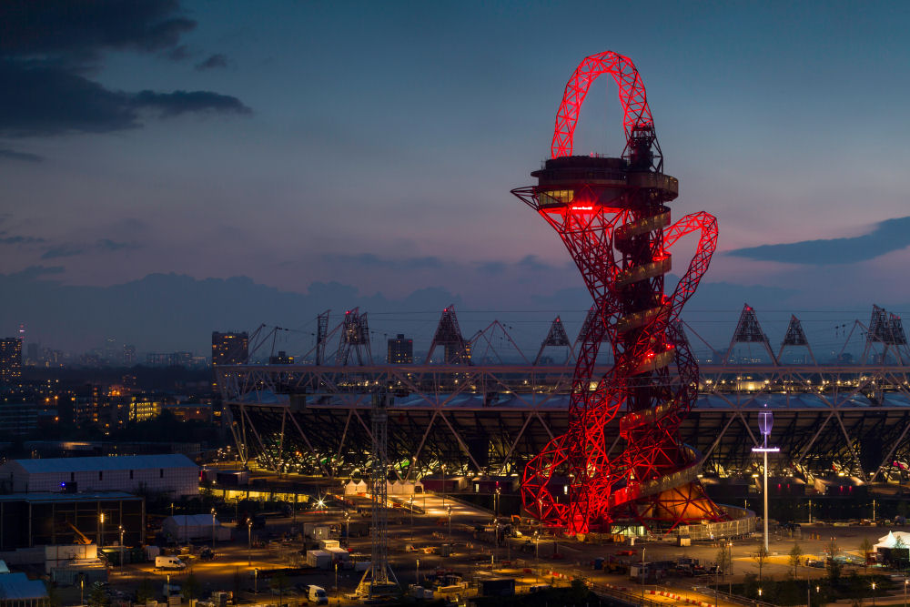 Inaugurada a Torre/Mirante de Anish Kapoor, rumo aos Jogos Olímpicos de Londres 2012, © ArcelorMittal