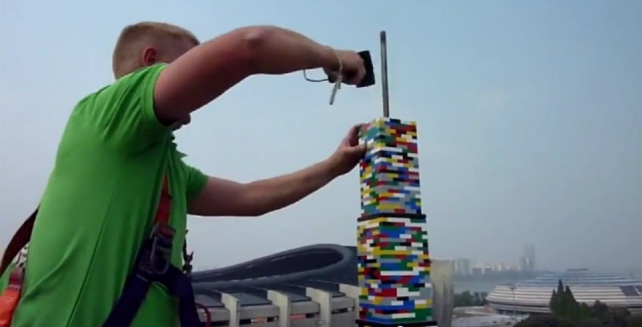 Maior torre de LEGO do mundo construída em Seul