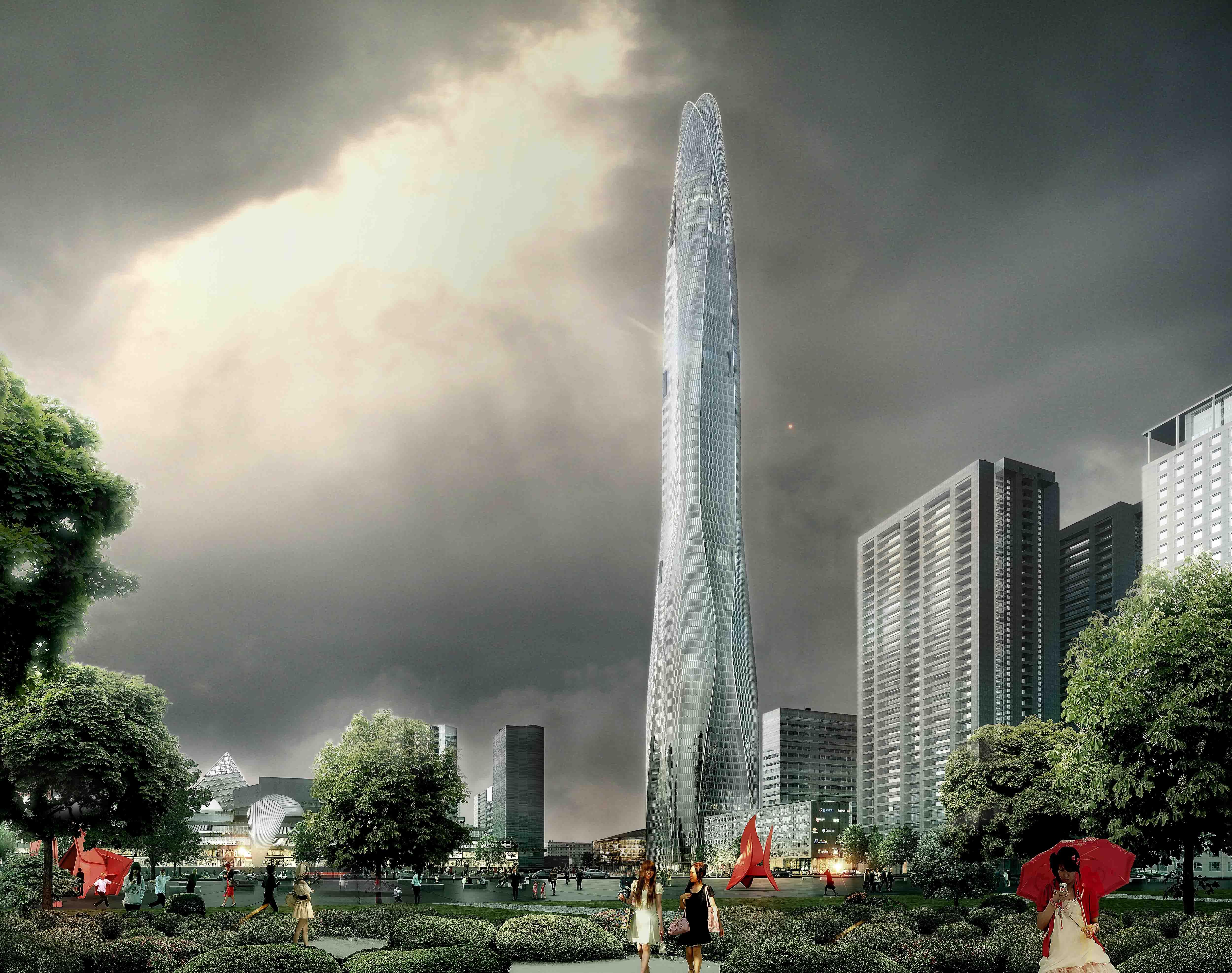 Torre CTF Tianjin / SOM, Cortesia de SOM