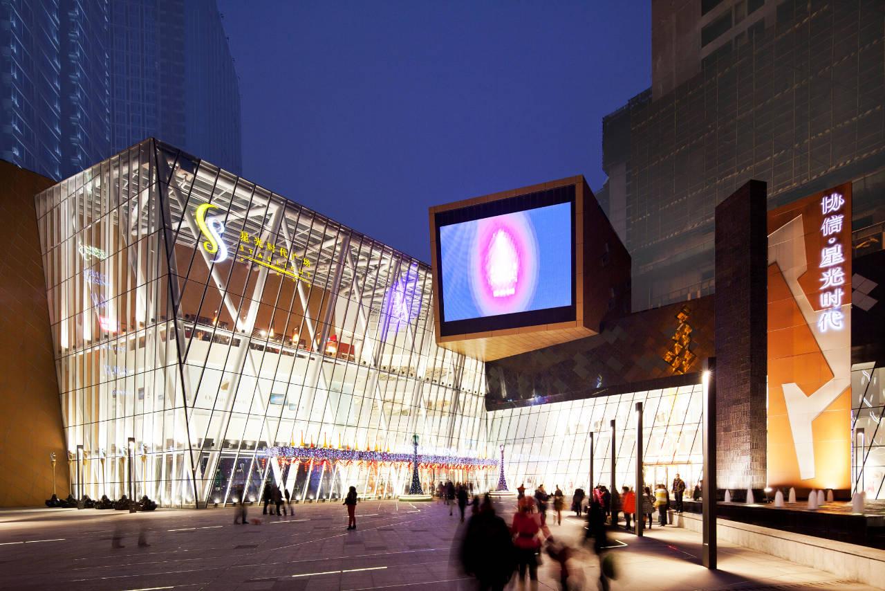 Aberto Shopping Starlight Place  projeto de Aedas / Chongqing - China, Cortesia de Aedas