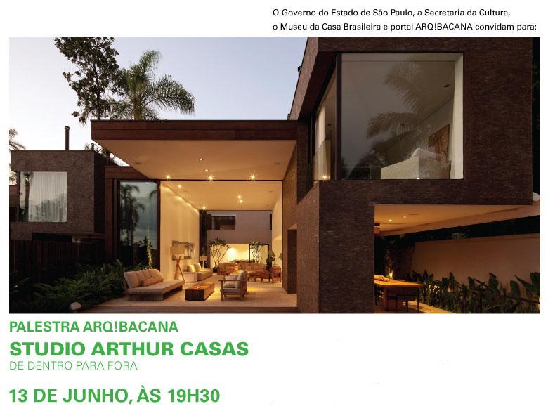 Palestra no Museu da Casa Brasileira: Arthur Mattos Casas, Divulgação