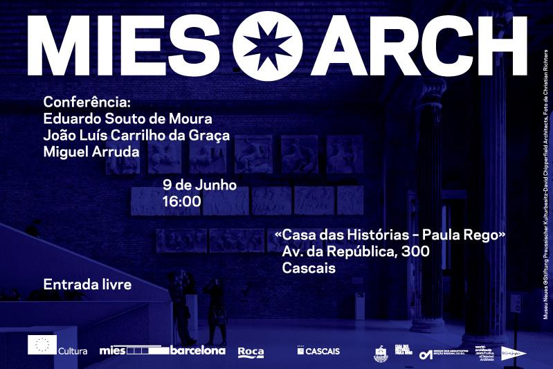 Conferência Prêmio Mies van der Rohe 2011 com Eduardo Souto de Moura, Carrilho da Graça e Miguel Arruda, Cartaz