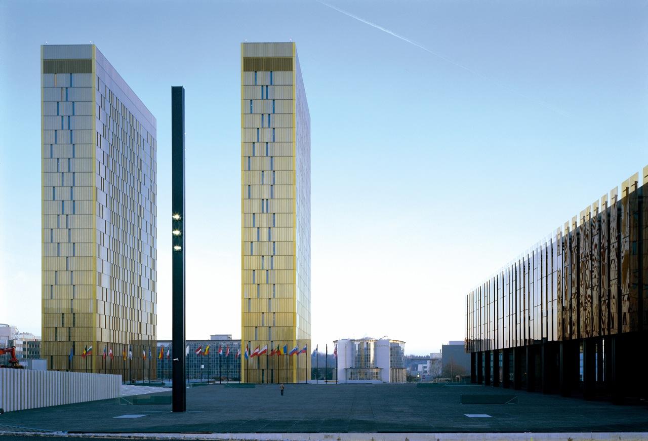 Tribunal da Justiça das Comunidades Europeias / Dominique Perrault Architecture, © Georges Fessy