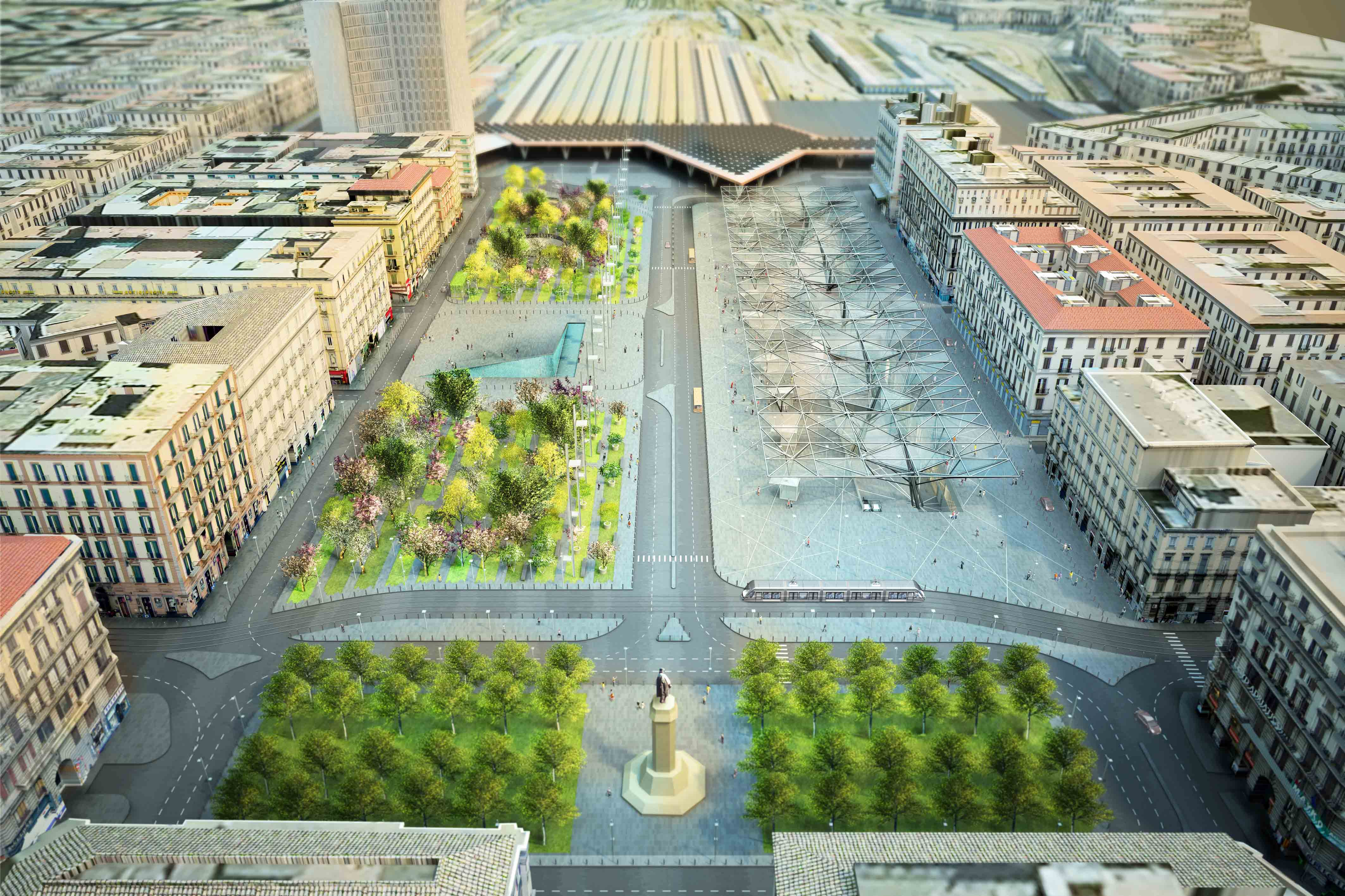Piazza Garibaldi / Dominique Perrault Architecture, © DPA/ADAGP