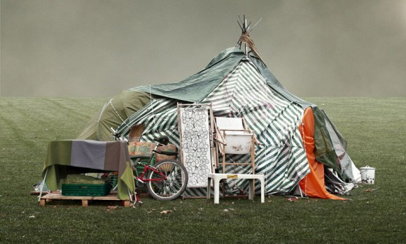 Fotografia do acampamento de manifestantes na Alemanha, © Frank Bayh & Steff Rosenberger-Ochs