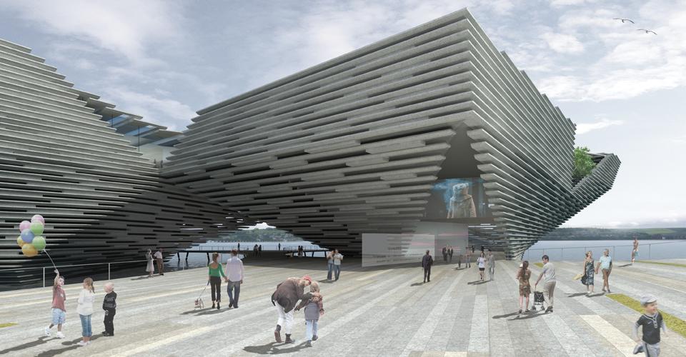 Kengo Kuma projeta o  novo museu Victoria & Albert na Escócia, © Dundee V&A Museum