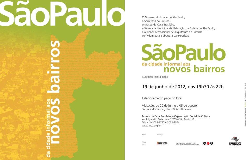 """MCB - """"São Paulo: da cidade informal aos novos bairros"""" / São Paulo - SP, Divulgação"""