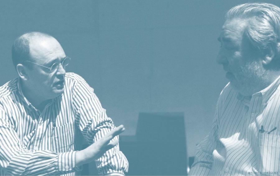 Eduardo Souto de Moura e Francisco Mangado juntos em Valladolid, © Arquitectura Ibérica