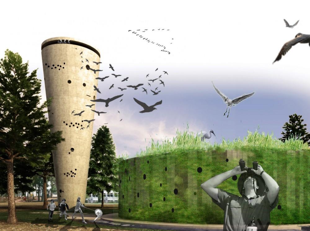 Projeto Torres de Água: Hábitat para a Fauna Urbana, Cortesia de Ofer Bilik Architects