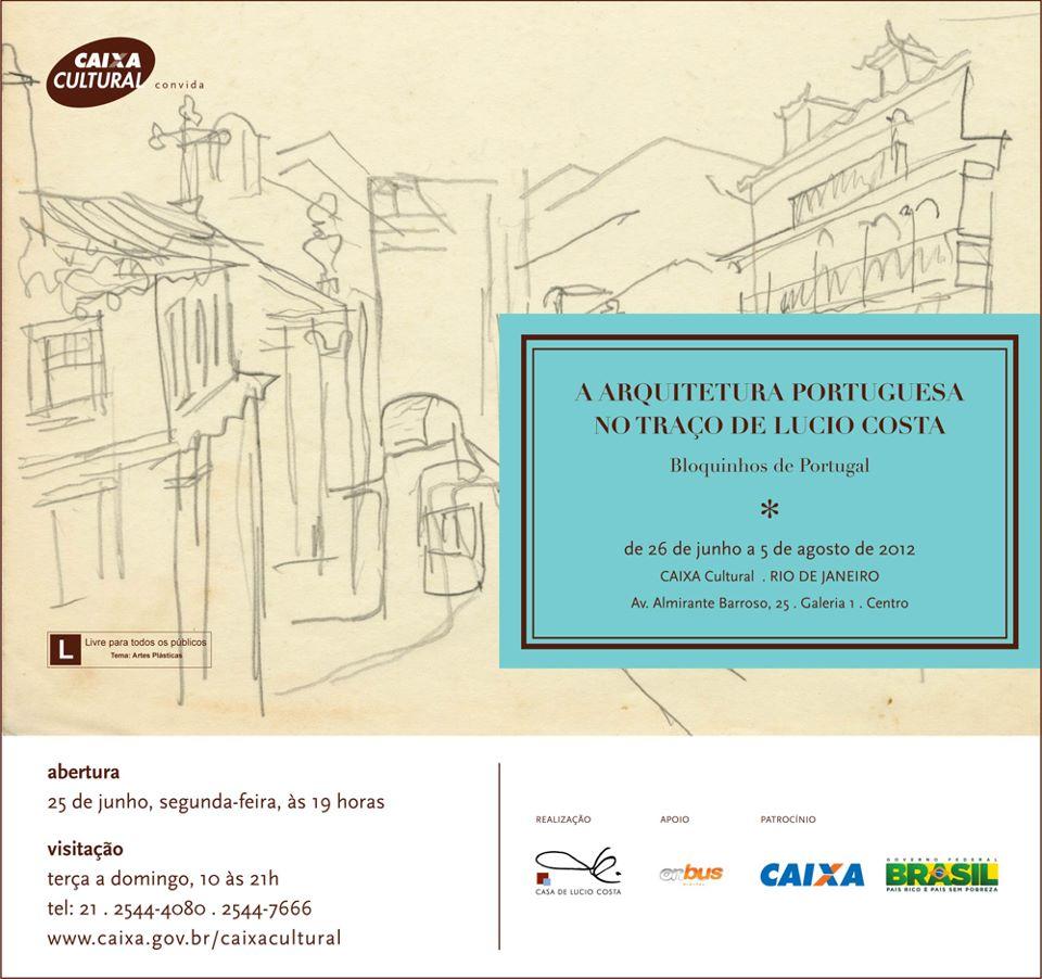 """Exposição: """" A Arquitetura portuguesa nos traços de Lúcio Costa - Bloquinhos de Portugal / Rio de Janeiro - RJ, Casa de Lúcio Costa"""