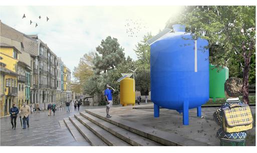"""""""Su-bidón"""": Menção no Concurso de Arquitetura Social Fundação Konecta, Cortesia Fundação Konecta"""