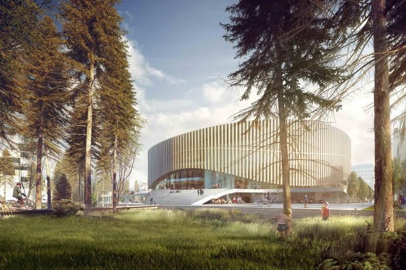 1° Lugar -  Arena de Copenhague / 3XN Architects  , Cortesia de 3XN Architects