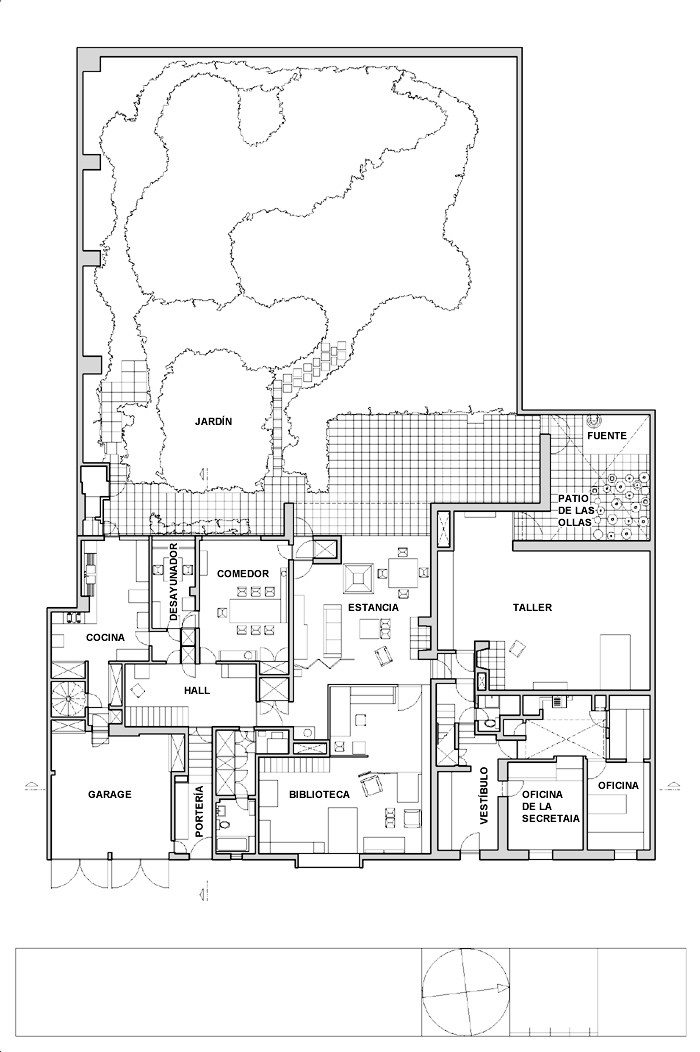 Galeria de cl ssicos da arquitetura casa luis barrag n - Planos de pisos de lujo ...
