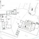 Planta geral 1. Igreja 2. Escola Dominical 3. Casa do pároco