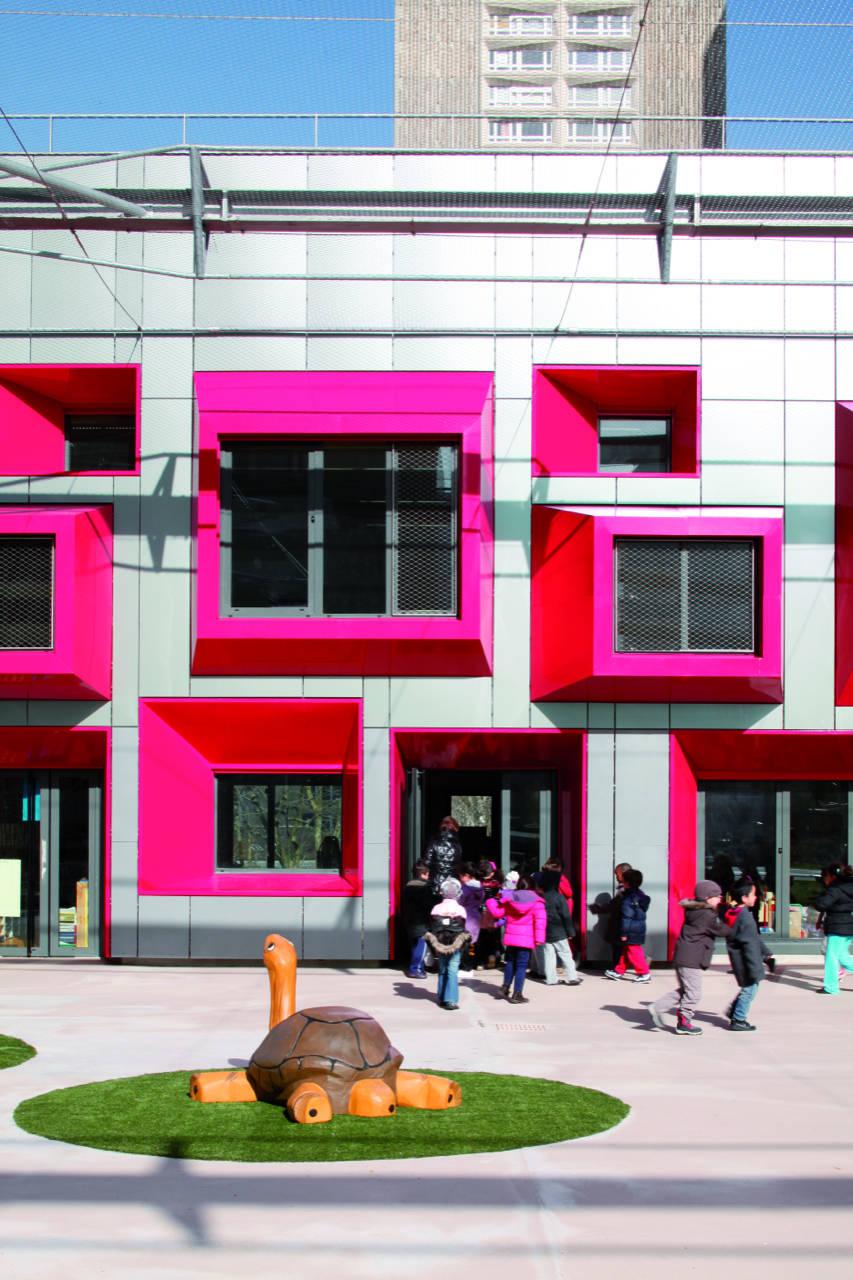 Jardim da Infância em Paris / Eva Samuel Architect Urbanist & Associates , © Gaston Bergeret