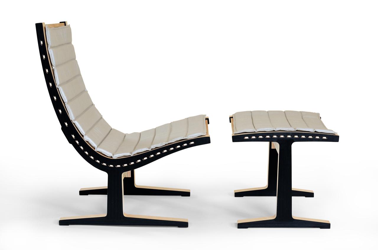 Cadeira de descanso e ottoman Brisée / Emiliano Godoy, Cortesia de Emiliano Godoy