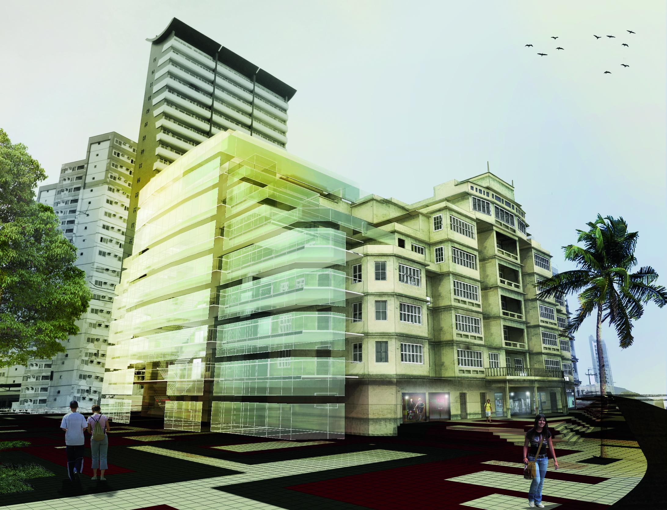 Proposta de Intervenção patrimonial em Fortaleza: o antigo Iracema Plaza Hotel / Igor Fracalossi, © Foto: Fabricio Porto / Render: cruxflux