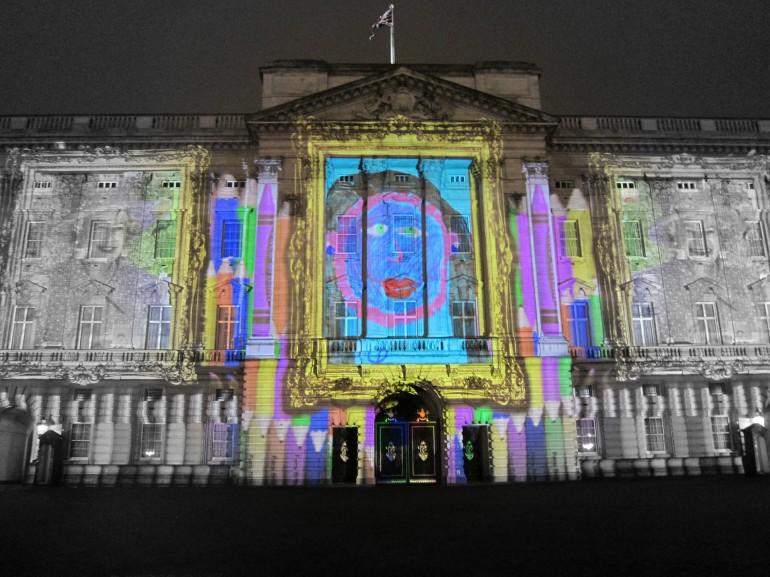 """""""Face Britain"""": Show de luzes no Palácio de Buckingham / Reino Unido, Mazaika.com"""