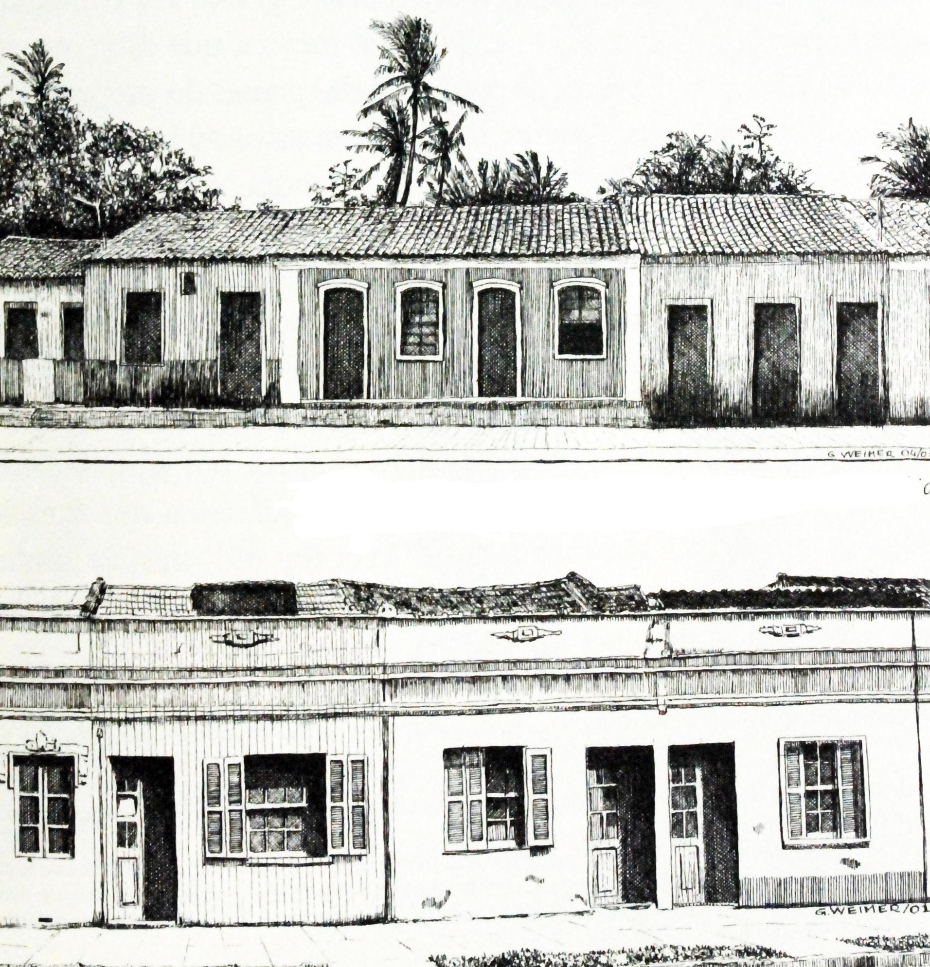 A Casa Invisível: Fragmentos sobre a arquitetura popular no Brasil / João Diniz, Figura 7. casario de 'Porta e Janela' em Porto Seguro, Bahia (acima) e em Porto Alegre, Rio Grande do Sul (abaixo)