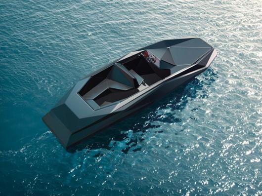 """Z Boat"" a embarcação projetada por Zaha Hadid, Cortesia de Zaha Hadid Architects/ Kenny Schachter-ROVE"