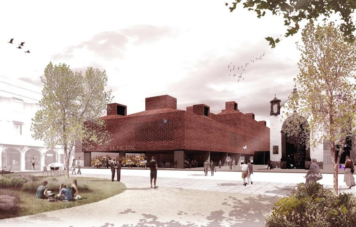 Proposta para Concurso de Reconstrução do Mercado La Laguna / Josep Ferrando + Marc Nadal + David Recio, Vista Exterior 1