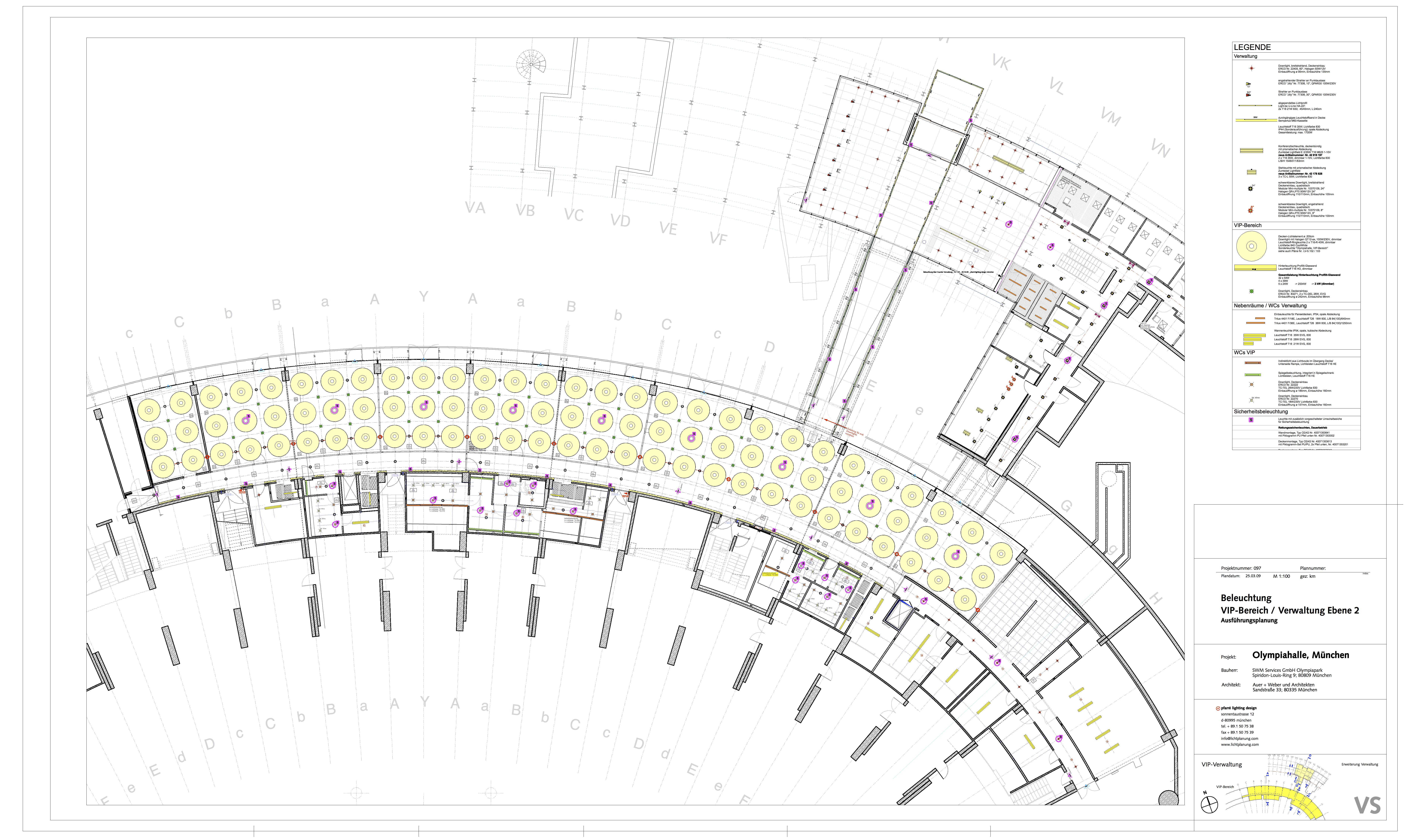 Conhecido Galeria de Projeto de Iluminação: Business Area, Olympic Hall  CF26
