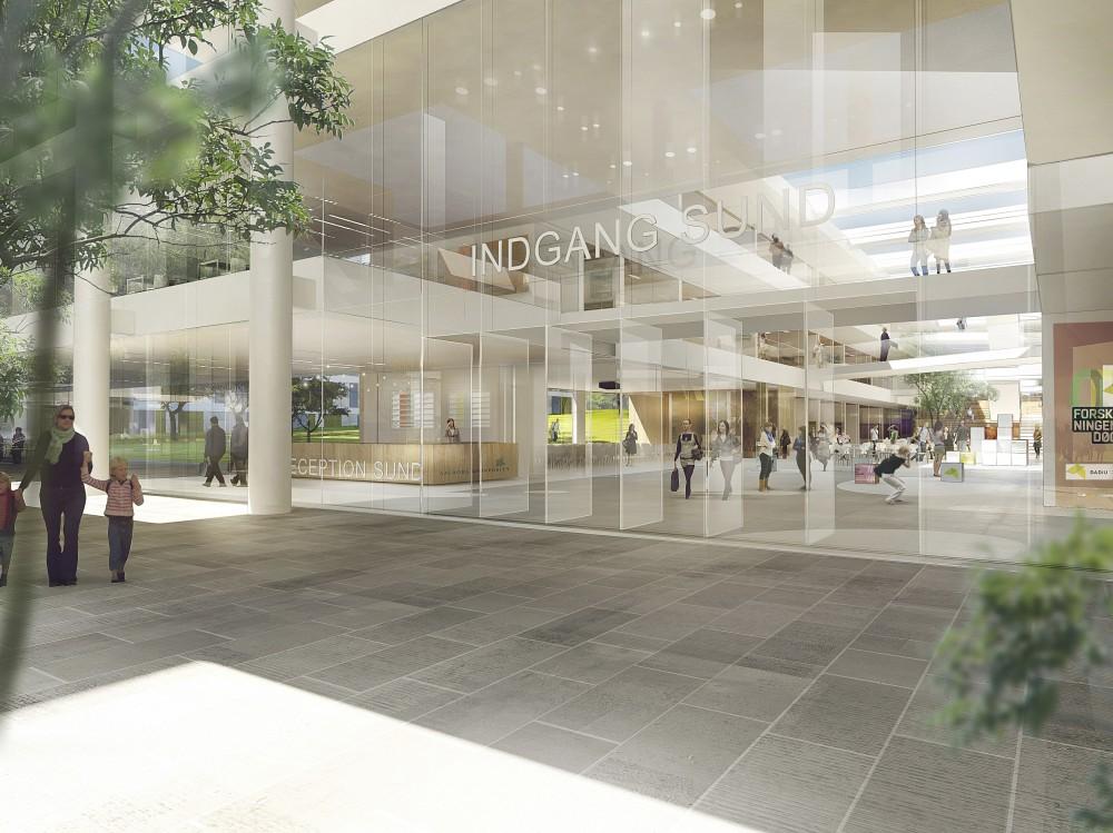 1° Lugar: Novo Hospital Universitário em Aalborg / schmidt hammer lassen architects, Cortesia de schmidt hammer lassen architects