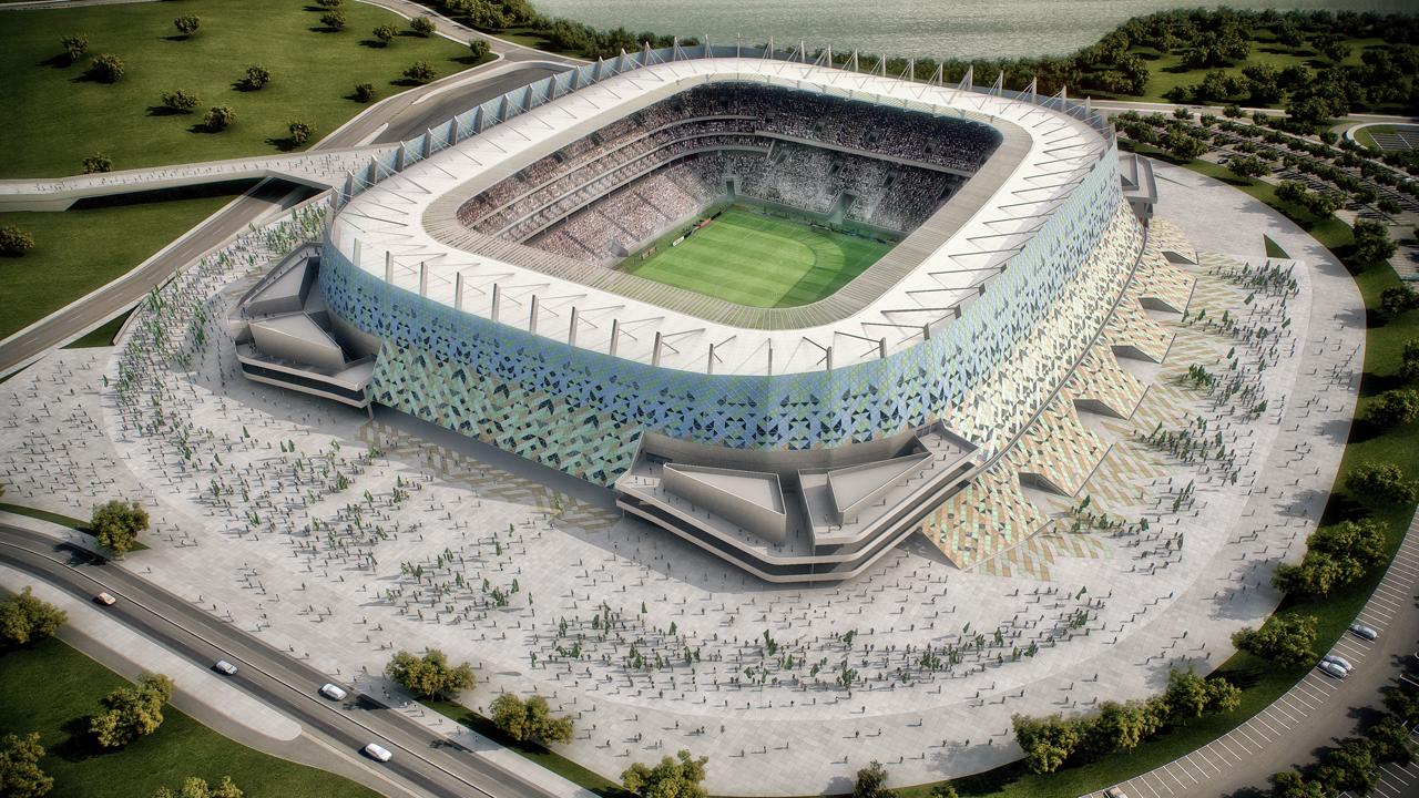 Estádios da Copa 2014: Arena Pernambuco  / Fernandes Arquitetos Associados, Imagem aérea - © Fernandes Arquitetos Associados