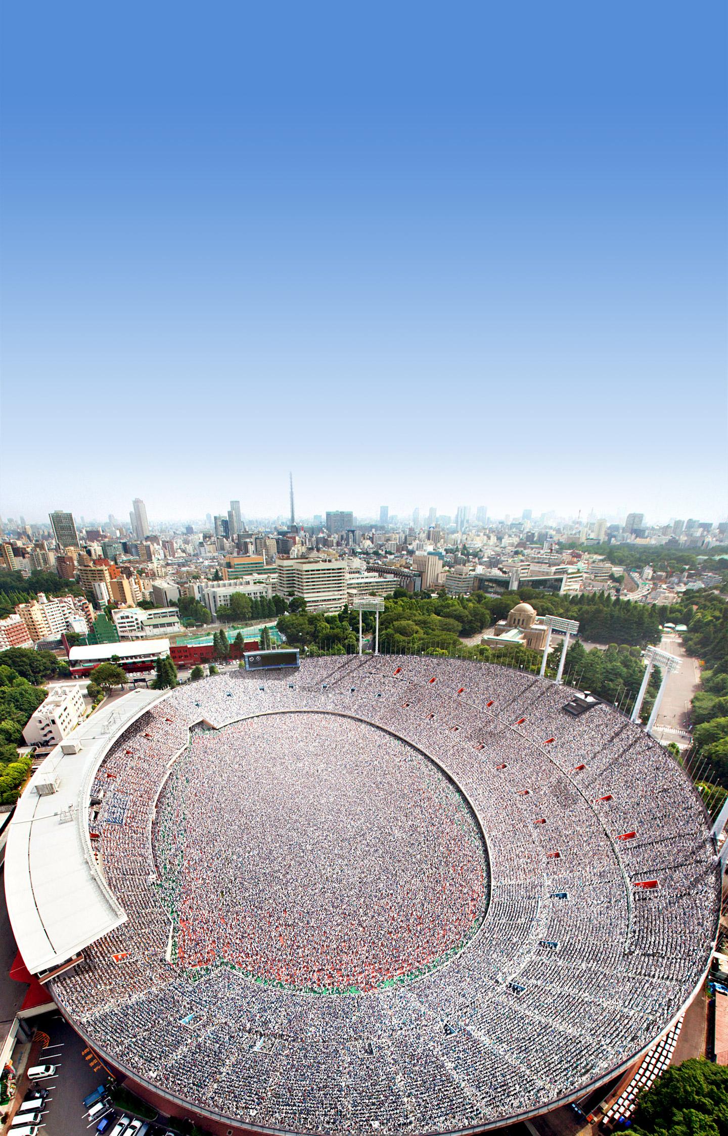 Concurso Internacional do Novo Estádio Nacional do Japão organizado por Tadao Ando