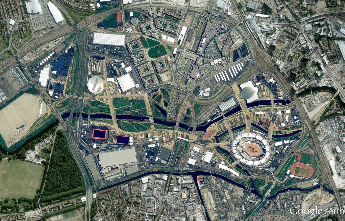 Parque e Vila Olimpíca no Google Earth e Maps, Parque e Vila Olimpíca no Google Earth e Maps (click para ver a imagem em tamanho real)