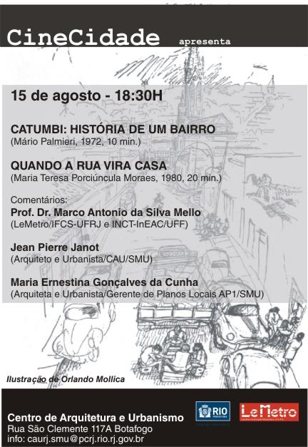 CineCidade - Quando a rua vira casa - 15 de agosto de 2012 / Rio de Janeiro - RJ, Cartaz via IAB-RJ