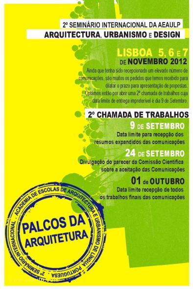 AEAULP faz 2ª chamada para Seminário Internacional em Novembro / Portugal, Cartaz