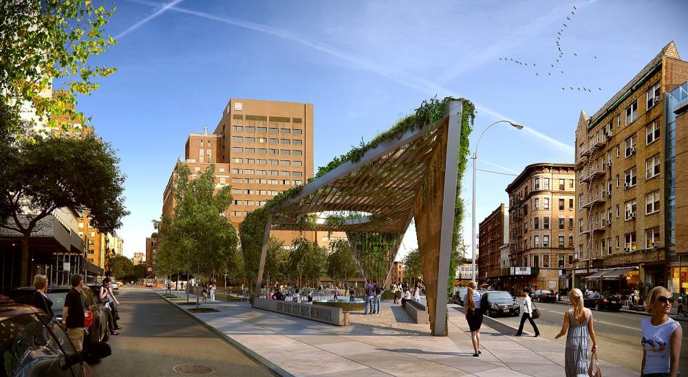 Aprovado o projeto de Studio a+i para o Novo AIDS Memorial Park em Nova Iorque, © Studio a+i