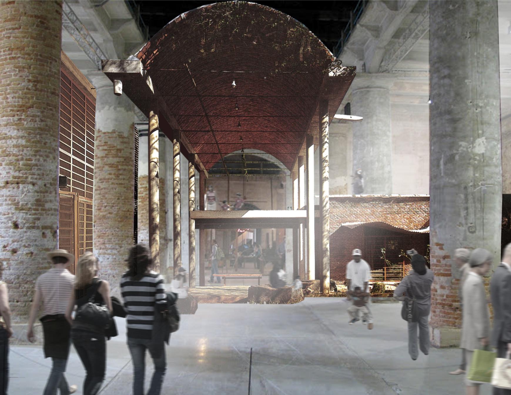 "Bienal de Veneza 2012: ""Wall house"" / Anupama Kundoo , Fotomontagem: Katie Hawgood"