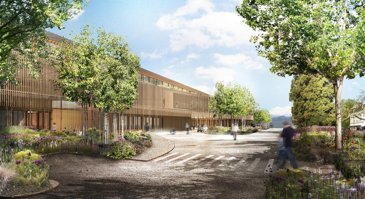 Em construção: Hospital Infantil de Zurique / Herzog & de Meuron , Esplanada © Herzog & de Meuron