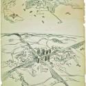 Planos para as cidades de Montevidéu e São Paulo [1929] - carvão e pastel s/ papel - 67 x 116,5 cm - acervo Fondation Le Corbusier