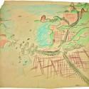 Plano para a cidade do Rio de Janeiro [1929] - carvão e pastel s/ papel - 76 x 80,5 cm - acervo Fondation Le Corbusier