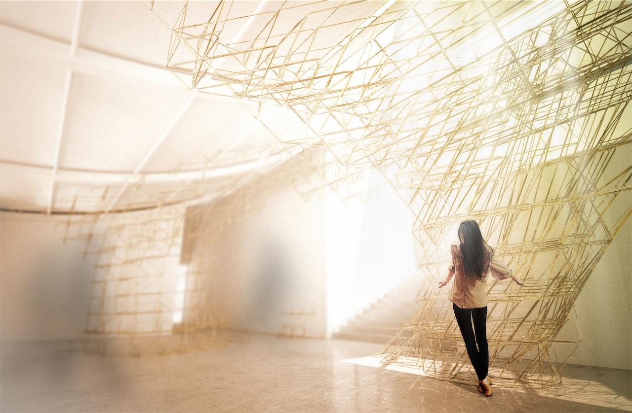 Bienal de Veneza 2012: Pavilhão Australiano enfoca no papel e evolução do arquiteto, A complexa instalação escultural robótica fabricada © Supermanoeuvre