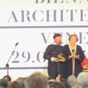 Toyo Ito, curador do Pavilhão do Japão, Ganhador do Leão de Ouro na Categoria Pavilhões Nacionais.