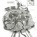 Moscou, desenho de Gibb, 2012 / Anna Gibb - Cortesia do Conselho Britânico