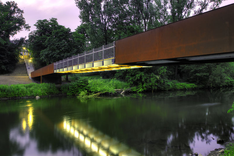 Ponte Wupper em Opladen / Ağırbaş & Wienstroer, © Thomas Mayer