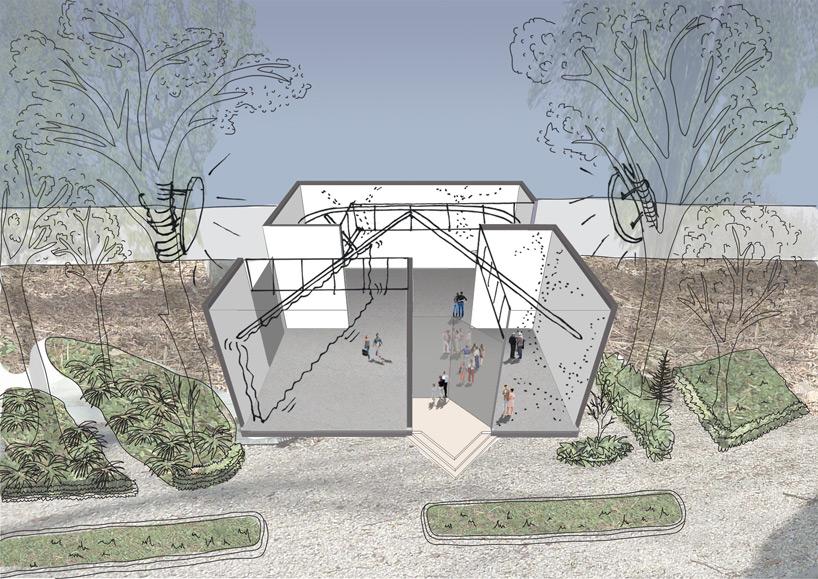 """Bienal de Veneza 2012: """" Re-set, Inside Outside"""" - Pavilhão da Holanda, Colagem Re-set, novas asas para a arquitetura. Inside Outside / Petra Blaisse de 2012 - Imagem cedida NAi"""