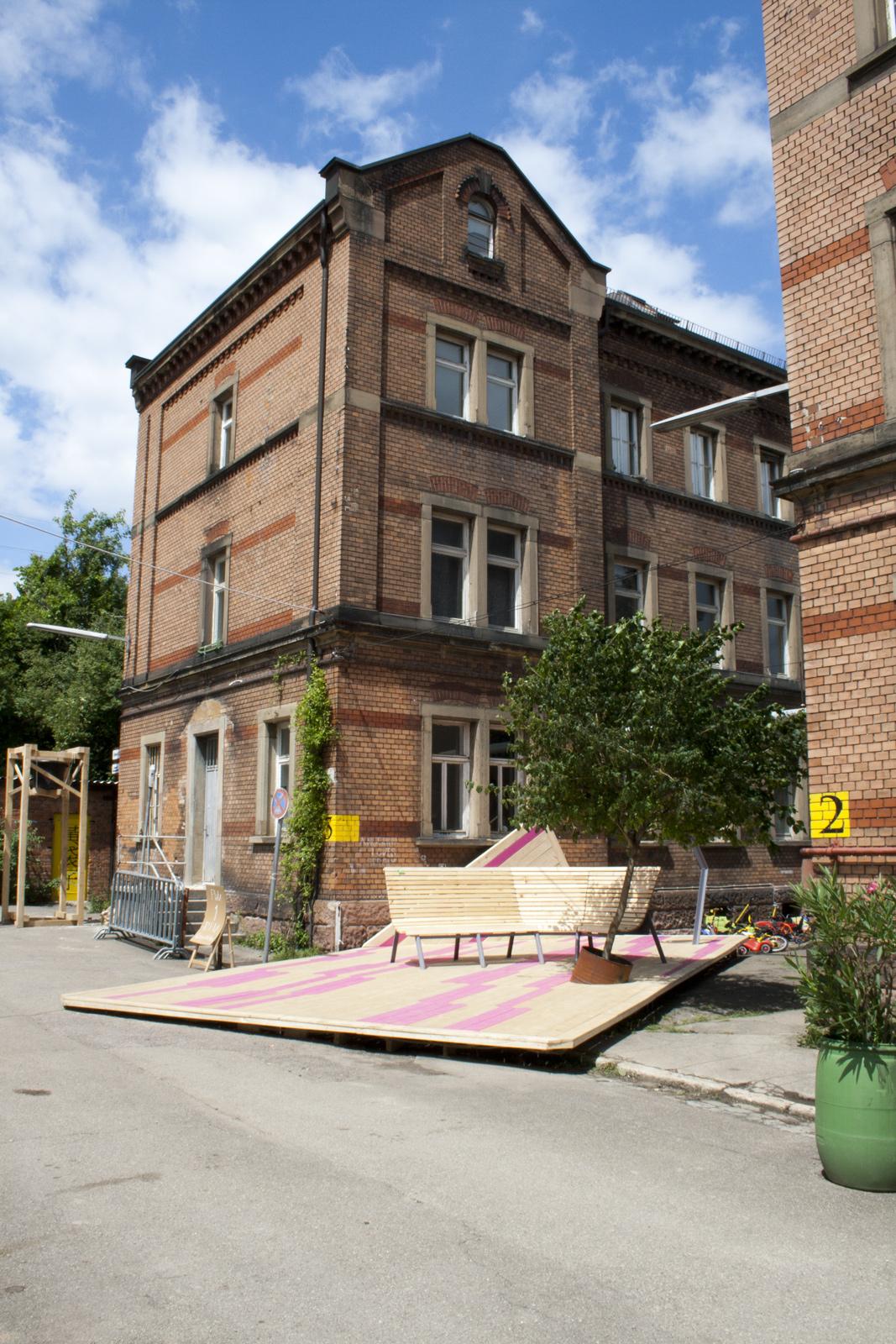 Premiados da Competição 72 Horas de Ação Urbana Stuttgart 2012 , 1° Lugar - Toy Parking da equipe TÜFTLER  / © Isabelle Willnauer