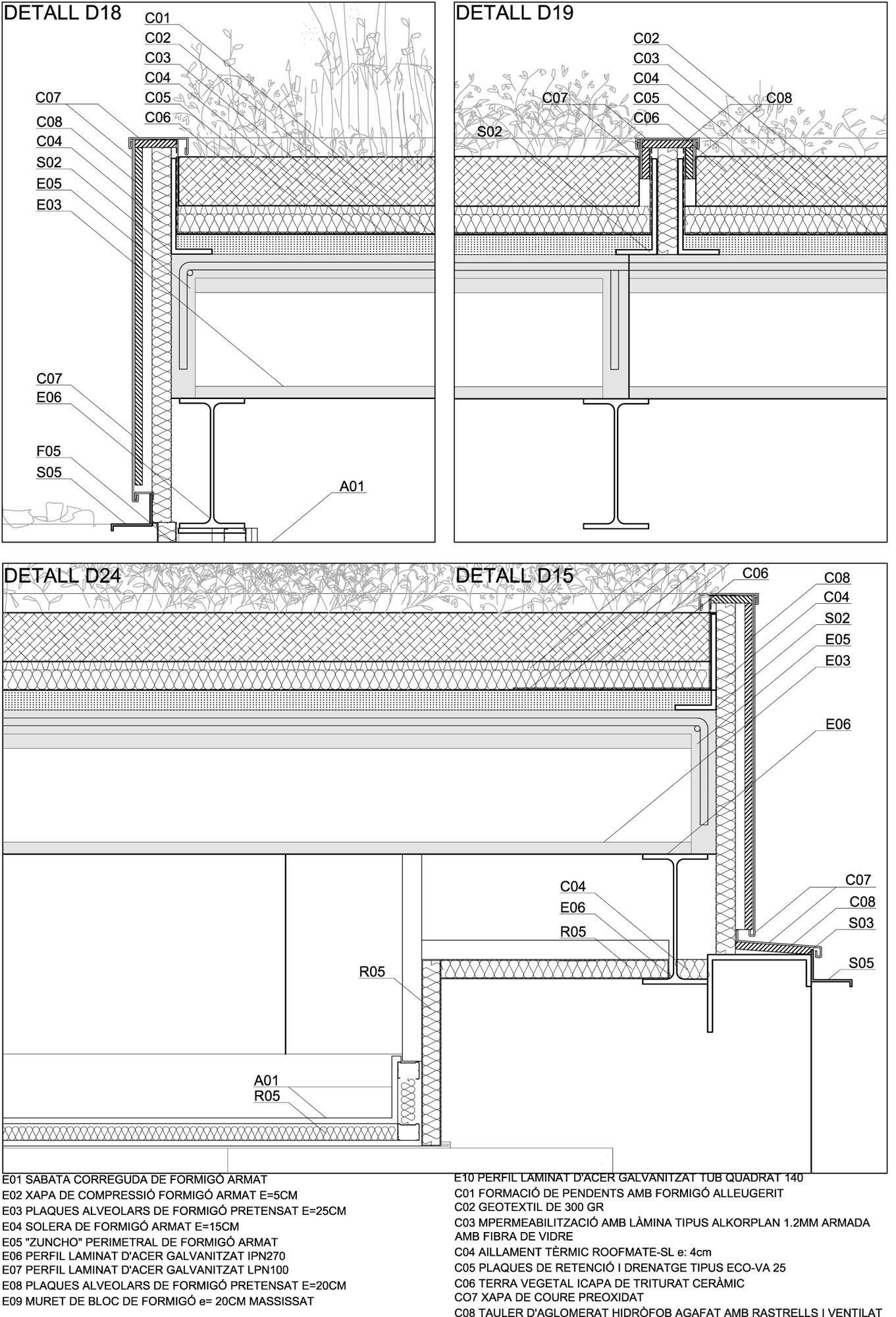 Galeria de em detalhe cortes construtivos de telhados for Arquitectura verde pdf