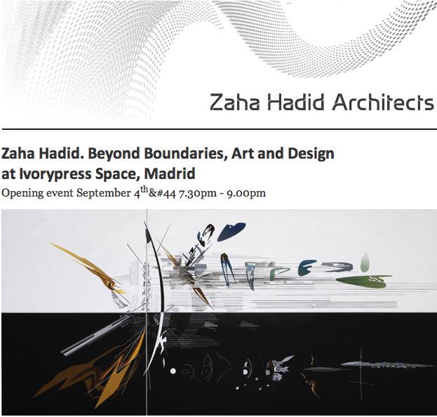 Exposição: Zaha Hadid Beyond Boundaries / Madri - Espanha, Cartaz