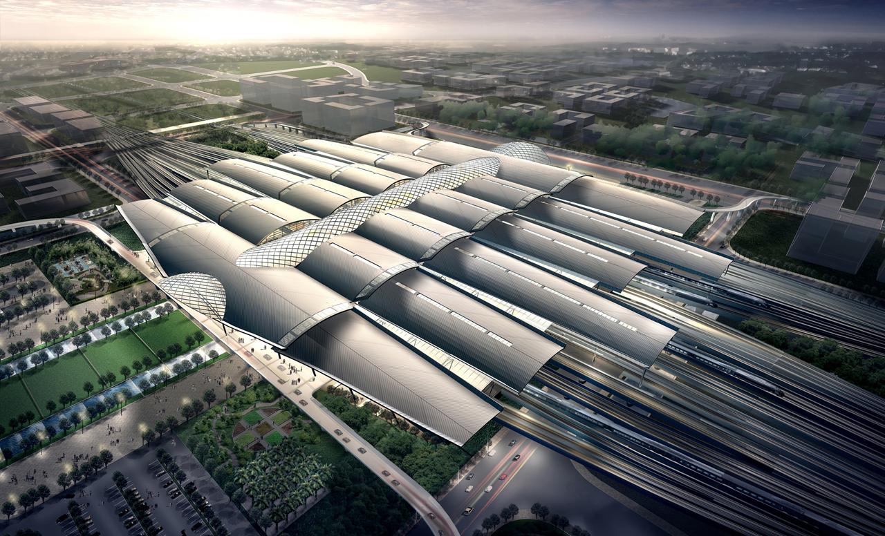 Estação Ferroviária Sul de Guangzhou/ TFP Farrells, © Cortesia de TFP Farrells