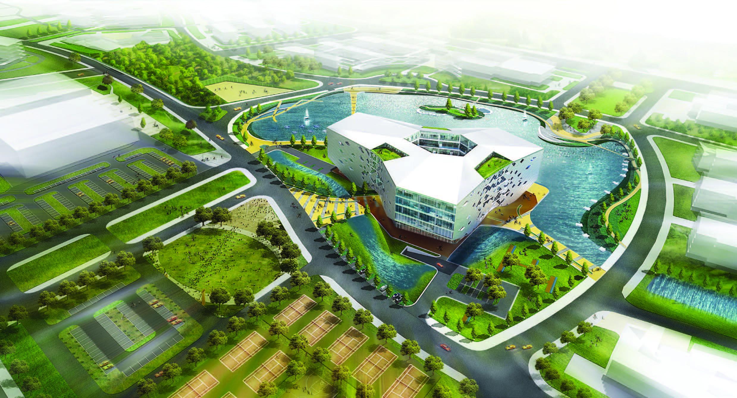 Biblioteca e Centro de Mídias da Universidade de Jiaxing / LYCS Architecture, Cortesia de LYCS Architecture