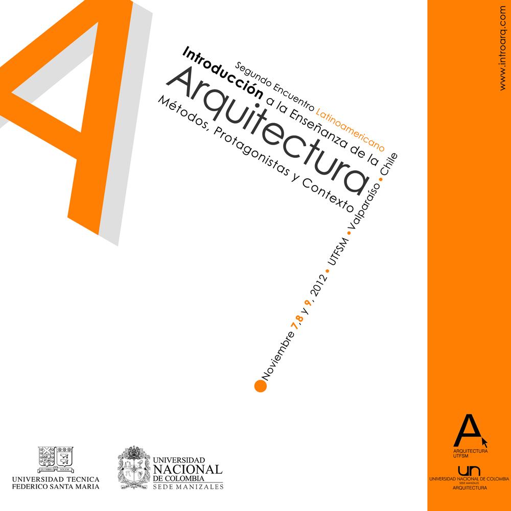 """2° Encontro Latino-americano """" Introdução ao Ensino de Arquitetura"""" / Valparaíso - Chile, Cartaz"""