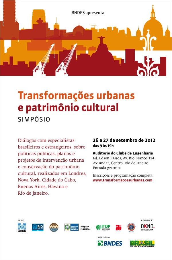 Simpósio Transformações Urbanas e Patrimônio Cultural / Rio de Janeiro - RJ, Cartaz